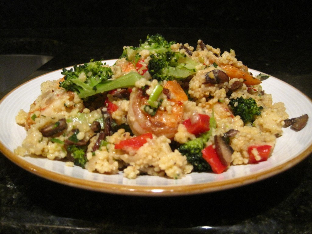 Healthy grilled shrimp couscous recipe skinny healthy girl for Couscous food recipe