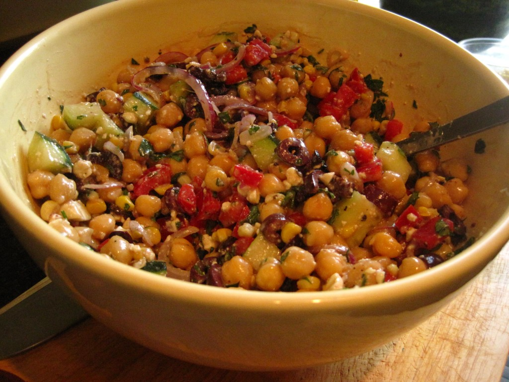 greek style pizza greek style chickpea salad greek style chickpea
